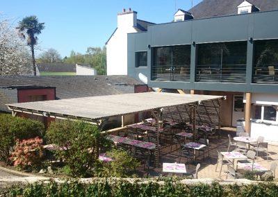 Terrasse du restaurant Le Carpaccio - Pontivy